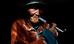 A traditional herder in the Mongolian countryside. His flocks survived the last winter, but his way of life is still in danger of extinction.<br />