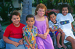 Children, Cayman Brac, Cayman Islands,