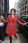 One Life To Live's Robin appears on the View, New York City, New York after 43 years on air and is photographed on her way out on January 12, 1212. (Photo by Sue Coflin/Max Photos)
