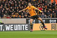 Raúl Jimenez of Wolverhampton Wanderers shoots just wide during Wolverhampton Wanderers vs Brighton & Hove Albion, Premier League Football at Molineux on 7th March 2020
