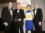 21/11/2014  WITH COMPLIMENTS.   Attending the Chamber Presidents Dinner and the Limerick Chamber Regional Business Awards 2014 in the Strand Hotel were Cathal Treacy, Limerick Chamber President, Sean Lally and Maria O'Gorman Skelly, Limerick Srand Hotel joint winner of the Best Retail & Hospitality Business Award with Liam Hession, BDO(Best Retail & Hospitality Business Award Sponsor).  Picture Liam Burke/Press 22