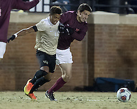 Winston-Salem, NC- December 3, 2016: Wake Forest Demon Deacons play the Virginia Tech Hokies at Spry Stadium.  Final score Wake Forest 2, Virginia Tech 0.