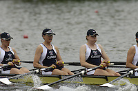 Poznan, POLAND.  2006, FISA, Rowing, World Cup, GBR W4X, bow, Debbie FLOOD, Sarah WINCKLESS, Frances HOUGHTON,  Katerine  GRAINGER, move  away from  the  start, on the Malta  Lake. Regatta Course, Poznan, Thurs. 15.05.2006. © Peter Spurrier   ...[Mandatory Credit Peter Spurrier/ Intersport Images] Rowing Course:Malta Rowing Course, Poznan, POLAND
