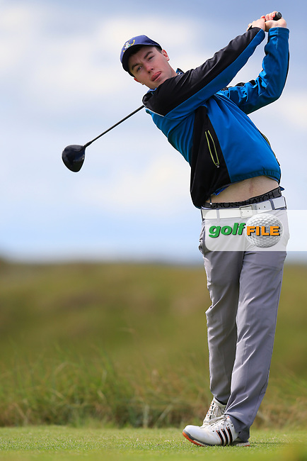 Jack McDonnell (Forrest Little) during the 2nd round of the East of Ireland championship, Co Louth Golf Club, Baltray, Co Louth, Ireland. 03/06/2017<br /> Picture: Golffile | Fran Caffrey<br /> <br /> <br /> All photo usage must carry mandatory copyright credit (&copy; Golffile | Fran Caffrey)