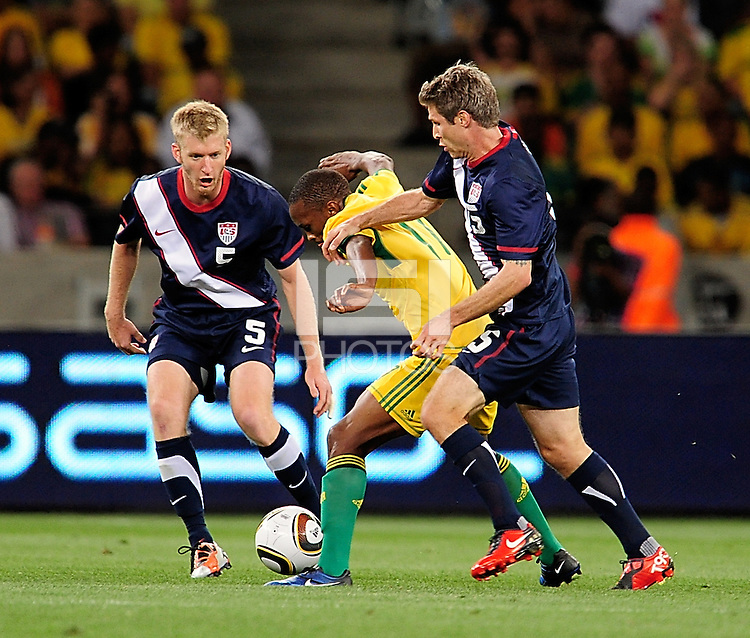 Tim Ream of the USA during the  Soccer match between South Africa and USA played at the Greenpoint in Cape Town South Africa on 17 November 2010.