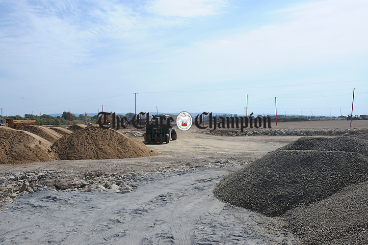Work in progress at the new Clare GAA training pitches on the Tulla Road. Photograph by Declan Monaghan