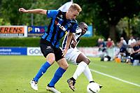 ASSEN - Voetbal - ACV - Hercules, KNVB beker, seizoen 2017-2018, 19-08-2017, Pascal Huser (l) in duel met Alfred Mensah