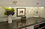 """Kitchen counter adjacent to the stove. """"At Home"""" with Margaret Lowery in her Lake Christine Drive home in Belleville, IL on July 24, 2019. <br /> Photo by Tim Vizer"""