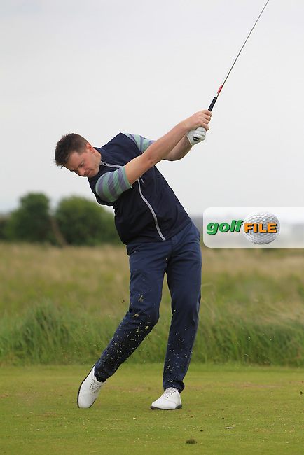 Gary McDermott (Carton House) on the 15th tee during Round 2 of the East of Ireland in the Co. Louth Golf Club at Baltray on Sunday 1st June 2014.<br /> Picture:  Thos Caffrey / www.golffile.ie