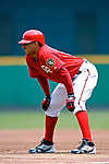 5 August 2007: Washington Nationals infielder Felipe Lopez in action against the St. Louis Cardinals at RFK Stadium in Washington, DC. The Nationals defeated the Cardinals 6-3 to sweep their 3-game series...Mandatory Photo Credit: Ed Wolfstein Photo