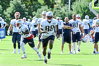 Wednesday, August 17, 2016: New England Patriots tight end Martellus Bennett (88) runs a route a joint training camp session between the Chicago Bears and the New England Patriots held at Gillette Stadium in Foxborough Massachusetts. Eric Canha/CSM