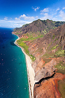 An aerial view of Na Pali Coast, Kaua'i