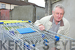 TROLLEYS: Listowel town councillor, Tim O'Leary who has highlighted the problem of shopping trolleys being abandoned around the town.