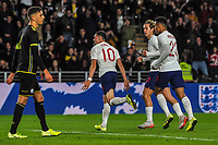 England Under 21's midfielder Phil Foden (10) celebrates his and England Under 21's second during the UEFA Euro U21 Qualifying match between England U21 & Kosovo U21 at KCOM Craven Park, Hull, England on 9 September 2019. Photo by Stephen Buckley / PRiME Media Images.