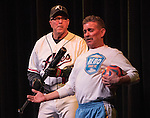 Kevin Cralle, as an Reno Aces player, and Ray Blankenship as a Reno 1868 FC player, perform during the Sheep Dip 53 Show at the Eldorado Hotel & Casino on Friday night, Jan. 13, 2017.
