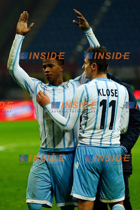 Esultanza Keita Balde Diao, Miroslav Klose Lazio<br /> Milano 27-01-2015 Stadio Giuseppe Meazza - Football Calcio Coppa Italia Milan - Lazio. Foto Giuseppe Celeste / Insidefoto