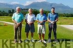 Denny Long, Ger O'Keeffe, Ger Power and Darren O'Donoghue at the Kerry schoolboys soccer golf classic on Monday