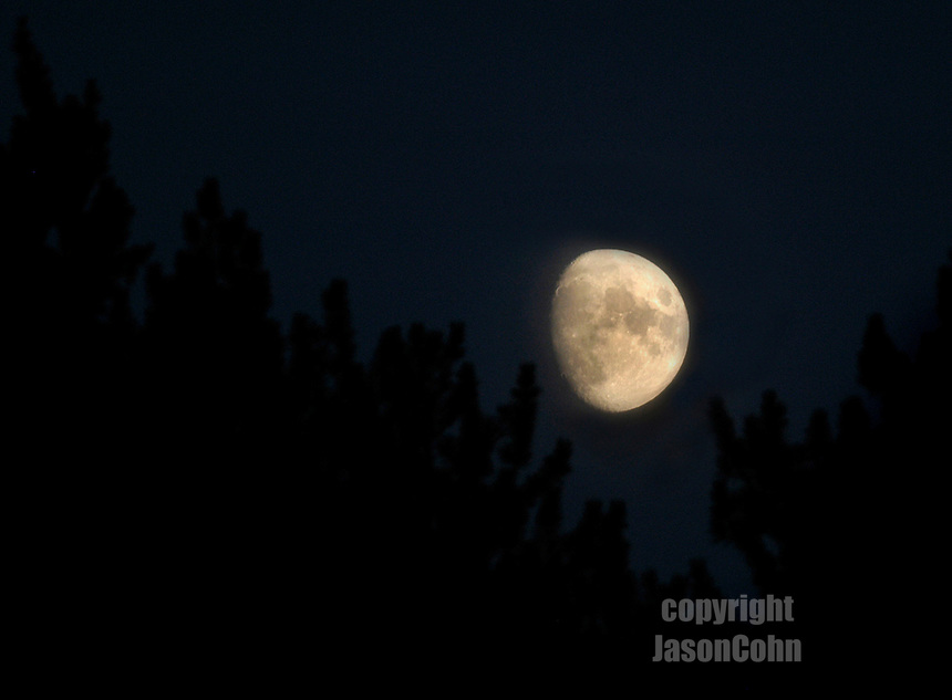 Moon over the Adirondacks. Photo by Jason Cohn