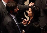 ELEZIONE PRESIDENTE DELLA CAMERA DEI DEPUTATI.NELLA FOTO LAURA BOLDRINI  FRANCESCHINI.FOTO CIRO DE LUCA