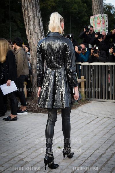 Tanya Dziahileva attend Louis Vuitton Show Front Row - Paris Fashion Week  2016.<br /> October 7, 2015 Paris, France<br /> Picture: Kristina Afanasyeva / Featureflash
