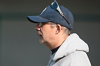 11 April 2010: Team manager Francois Colombier of Rouen is seen prior to game 1/week 1 of the French Elite season won 5-1 by Rouen over Montigny, at the Cougars Stadium in Montigny le Bretonneux, France.