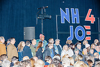 Attendees wait for the candidate's arrival at a campaign event for Democratic presidential candidate and former Vice President Joe Biden at The Sports Barn in Hampton, New Hampshire, on Sun., December 8, 2019. Former Secretary of State John Kerry also spoke at the event.
