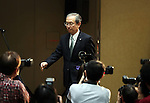 February 14, 2017, Tokyo, Japan - Japan's troubled electronics giant Toshiba president Satoshi Tsunakawa arrives at a press conference to announce the company's third quarter financial result at the Toshiba headquarters in Tokyo on Tuesday, February 14, 2017. Toshiba chairman Shigenori Shiga will step down to take responsibility for the huge loss of a 712.5 billion yen (6.3 billion US dollars) on its nuclear business in the United States.   (Photo by Yoshio Tsunoda/AFLO) LwX -ytd