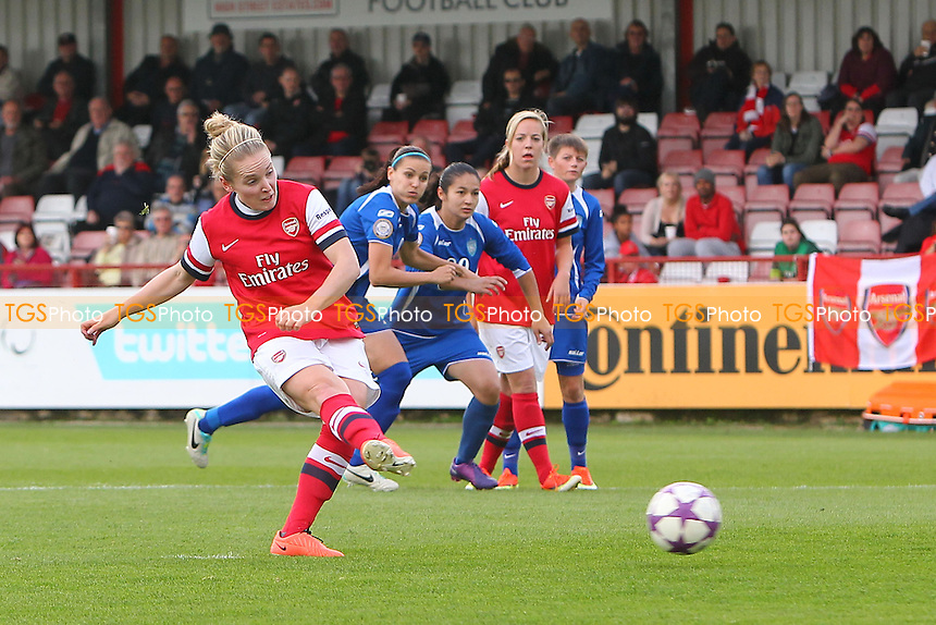 Kim Little of Arsenal Ladies scores the fifth goal with a penalty - Arsenal Ladies vs WFC SSHVSM Kairat - UEFA Womens Champions League Round of 32 2nd Leg Football at Meadow Par, Boreham Wood FC - 17/10/13 - MANDATORY CREDIT: Gavin Ellis/TGSPHOTO - Self billing applies where appropriate - 0845 094 6026 - contact@tgsphoto.co.uk - NO UNPAID USE