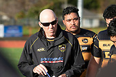 Bombay Coach Paul Wheeler. Counties Manukau Premier Club Rugby game between Papakura and Bombay, played at Massey Park Papakura on Saturday June 16th 2018. Bombay won the game 36 - 17 after leading 17 - 7 at halftime.<br /> Papakura Ray White 17 - Kris Smithson 2, Taafaga Tagaloa tries, Monty Punatai conversion.<br /> Bombay 36 - Jordan Goldsmith, Haamiora Clarke 2, Patrick Masoe, Mitchell Thackham, Chay Mackwood tries, Jordan Goldsmith 2, Ki<br /> Anufe conversions.<br /> Photo by Richard Spranger.
