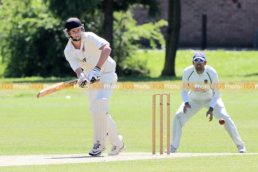 Billy Gordon in batting action for Hornchurch - Hornchurch CC vs Loughton CC - Essex Cricket League at Harrow Lodge - 26/05/12 - MANDATORY CREDIT: Gavin Ellis/TGSPHOTO - Self billing applies where appropriate - 0845 094 6026 - contact@tgsphoto.co.uk - NO UNPAID USE.