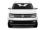 Car photography straight front view of a 2019 Volkswagen Atlas SE 5 Door SUV