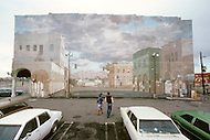 "Venice Beach, California, U.S.A, March, 1980. In 1904, Abbot Kinney wanted to recreate Venice, even copy the Campanile. When he couldn't he had artists to make the venecian ""trompe l'oeil""."