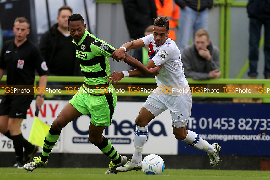 Ethan Pinnock of Forest Green Rovers and Corley Whitely of Dagenham during Forest Green Rovers vs Dagenham & Redbridge, Vanarama National League Football at The New Lawn on 29th October 2016