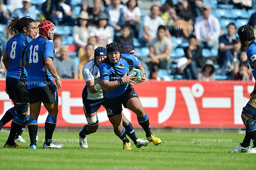 Naoki Kawamata (Wild Knights),.OCTOBER 13, 2012 - Rugby : Japan Rugby Top League 2012-2013, 6th Sec match between Panasonic Wild Knights 35-18 YAMAHA Jubilo at Chichibunomiya Rugby Stadium, Tokyo, Japan. (Photo by Jun Tsukida/AFLO SPORT) [0003].