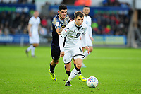 Tom Carroll of Swansea City in action during the Sky Bet Championship match between Swansea City and Barnsley at the Liberty Stadium in Swansea, Wales, UK. Sunday 29 December 2019