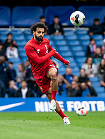 Mohamed Salah of Liverpool during the Premier League match between Chelsea and Liverpool at Stamford Bridge, London, England on 22 September 2019. Photo by Liam McAvoy / PRiME Media Images.