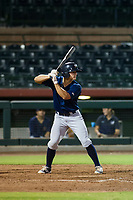 AZL Brewers catcher Brent Diaz (28) at bat against the AZL Giants on August 15, 2017 at Scottsdale Stadium in Scottsdale, Arizona. AZL Giants defeated the AZL Brewers 4-3. (Zachary Lucy/Four Seam Images)