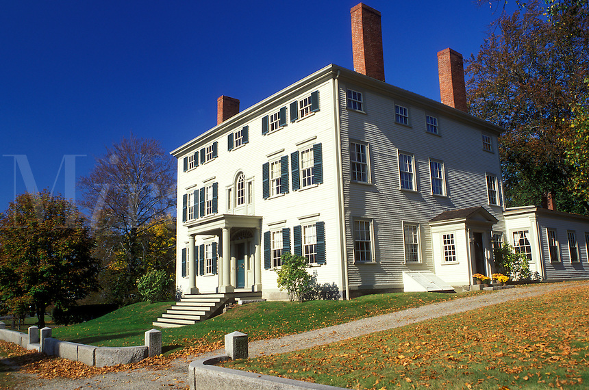 Ipswich, MA, Massachusetts, John Heard House Museum a Federal-style mansion in the town of Ipswich in the fall.