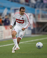 Chicago Fire midfielder Cuauhtemoc Blanco (10). The New England Revolution out scored the Chicago Fire, 2-1, in Game 1 of the Eastern Conference Semifinal Series at Gillette Stadium on November 1, 2009.