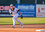 4 September 2016: Vermont Lake Monsters infielder Luke Persico in action against the Lowell Spinners at Centennial Field in Burlington, Vermont. The Lake Monsters fell to the Spinners 8-3 in NY Penn League action. Mandatory Credit: Ed Wolfstein Photo *** RAW (NEF) Image File Available ***