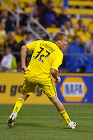 21 AUGUST 2010:  Steven Lenhart of the Columbus Crew (32) during MLS soccer game between Colorado Rapids vs Columbus Crew at Crew Stadium in Columbus, Ohio on August 21, 2010.