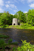 Stone Iron Furnace in Franconia, New Hampshire. Built with local granite, this is the only blast furnace still standing in New Hampshire.