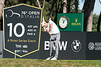 Maximilian Kieffer (GER) in action on the 10th hole during the second round of the 76 Open D'Italia, Olgiata Golf Club, Rome, Rome, Italy. 11/10/19.<br /> Picture Stefano Di Maria / Golffile.ie<br /> <br /> All photo usage must carry mandatory copyright credit (© Golffile | Stefano Di Maria)