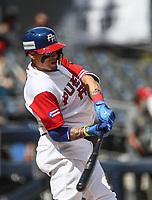 Javier Baez de Puerto Rico, durante el partido entre Italia vs Puerto Rico, World Baseball Classic en estadio Charros de Jalisco en Guadalajara, Mexico. Marzo 12, 2017. (AP Photo/Luis Gutierrez)