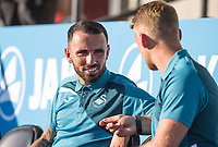 Leon Britton of Swansea City ahead of the 2017/18 Pre Season Friendly match between Barnet and Swansea City at The Hive, London, England on 12 July 2017. Photo by Andy Rowland.