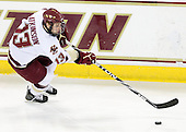 Cam Atkinson (BC - 13) - The Boston College Eagles defeated the University of Massachusetts-Amherst Minutemen 5-2 on Saturday, March 13, 2010, at Conte Forum in Chestnut Hill, Massachusetts, to sweep their Hockey East Quarterfinals matchup.