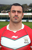 PICTURE BY IAN LOVELL/WRL...Rugby League - Wales Rugby League Headshots 2011 - 21/10/11...Wales Rhys Williams.