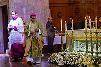 Querétaro, Qro. 19 de agosto de 2018.- El Obispo de la diócesis de Querétaro, Faustino Armendáriz durante su homilía llamo a la paz y reconciliación en México. Además realizó una oración y bendición por los alumnos y maestros que inician el nuevo periodo escolar 2018-1019.