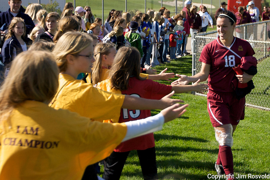19 Sep 2010: University of Minnesota  plays host to Illinois State University in a non conference game at Elizabeth Lyle Robbie Stadium in St. Paul, MN...NCAA Bylaw 12.5.11 prohibits the use of a student-athlete's name, picture, or identity to .promote the sale of a commercial product or service. It is the intent of the photographer that this photo shall not be used in any way that may constitute advertising or .promotion of any commercial product or service.