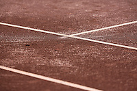 August 24, 2014, Netherlands, Amstelveen, De Kegel, National Veterans Championships, lines on clay court<br /> <br /> Photo: Tennisimages/Henk Koster
